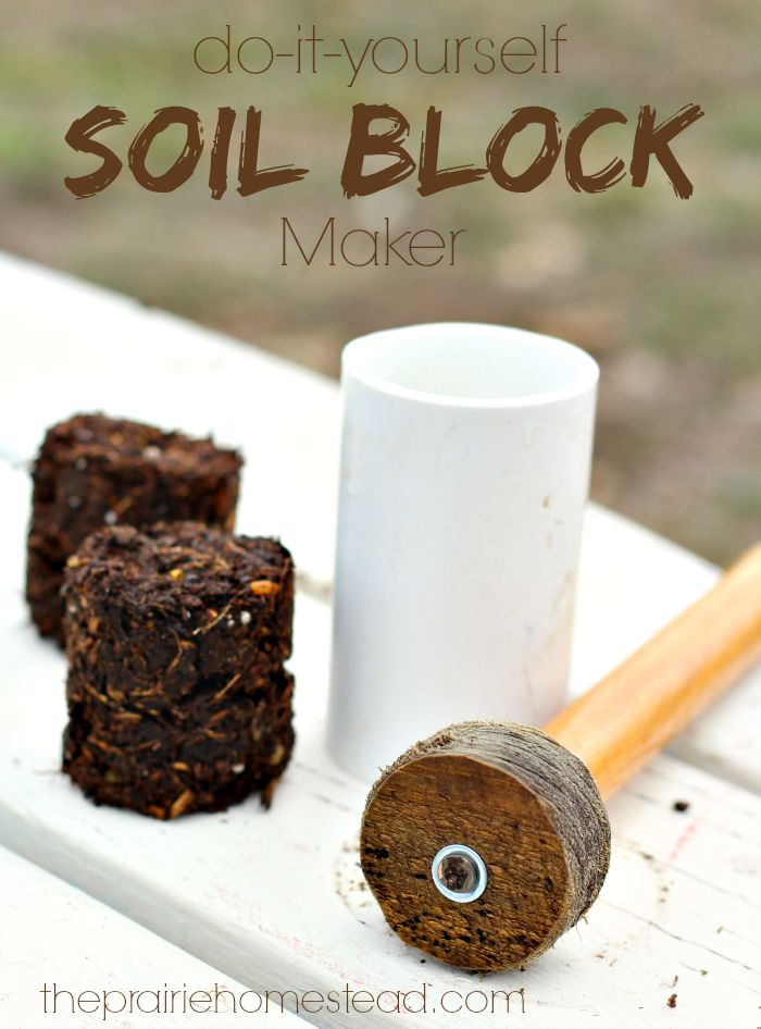 I've been hearing some buzz lately… …about these handy-dandy soil block thingies that people are using to start their seeds. I've been pretty loyal to my nifty little newspaper pots for a while now, but being the nosy curious homesteader that I am, I just had to check out these new pots on the block. …