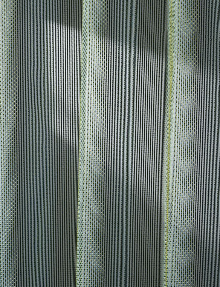 Drops is a curtain from Patricia Urquiolas first textile collection for Kvadrat that particularly stands out for its tactility and elegant interplay of colours. Woven drops slightly  protrude from the surface of the stripes, and appear to 'flow' over the textile.