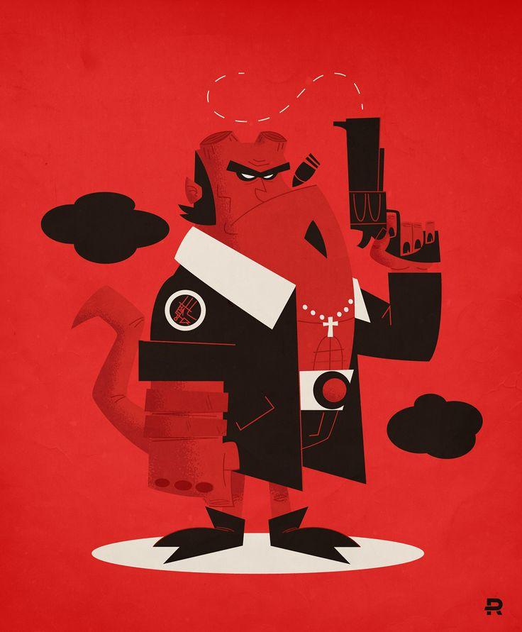 Hellboy Vector on Behance