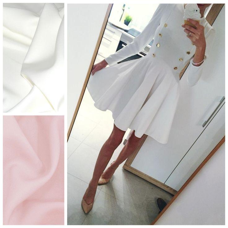 Sukienka AMOUR  Rozmiary: xs,s,m,l Kolory: ecru, pudrowy róż Cena: 269 PLN https://www.facebook.com/POQASH/