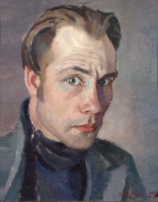 Yrjö Lalla: Self-portrait,1934 Art Curator & Art Adviser. I am targeting the most exceptional art! Catalog @ http://www.BusaccaGallery.com