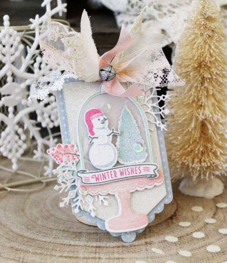 Winter Wishes Tag by Melissa Phillips for Papertrey Ink (October 2017)