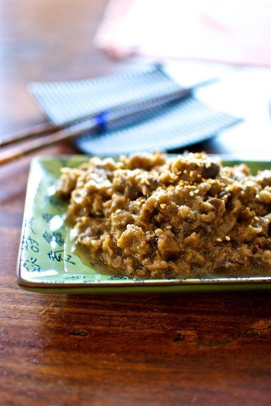 Abura miso, miso de berenjenas, receta japonesa con Thermomix