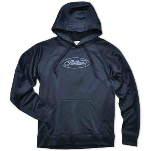 Mathews Black Unisex Hooded Pullover