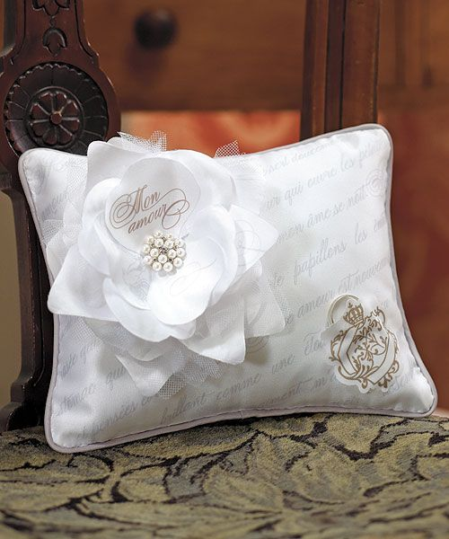 Parisian Love Letter Blossom Ring Pillow