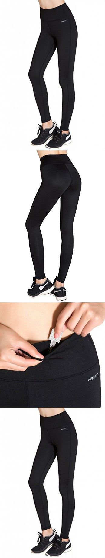 Aenlley Women's Activewear Yoga Pants High Rise Workout Gym Spanx Tights leggings Color Black Size S