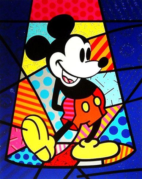 """Limited Edition Print """"Britto Mickey Mouse (Spotlight Mickey)"""" by Romero Britto"""