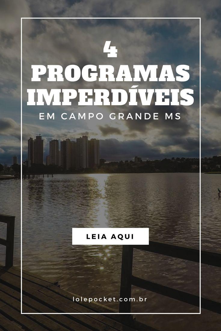 Procurando o que fazer em Campo Grande? Aqui tem 4 programas para quando se tem 1 ou 2 dias pela capital do Mato Grosso do Sul.