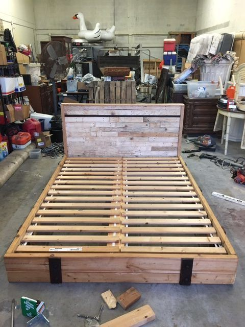 Pallets & Misc Warehouse Parts Can Make a Good Bed DIY Pallet Bedroom - Pallet Bed Frames & Pallet Headboards