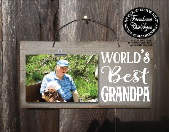gift for grandpa, grandpa gift, world's best grandpa, grandpa picture frame…