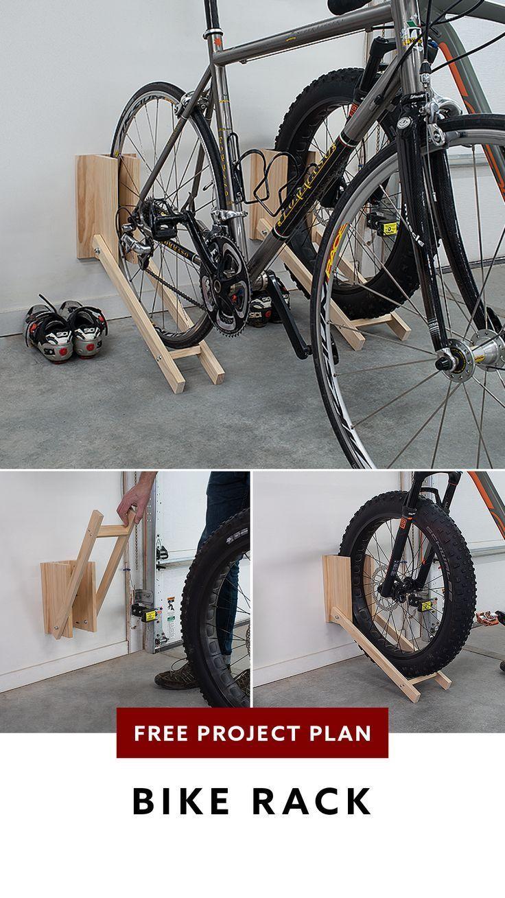Kostenloser Projektplan Kompakter Garagen Fahrradtrager Diy