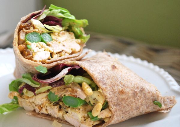 Curried Chicken Salad Wraps | Scrumdiddlyumptious | Pinterest