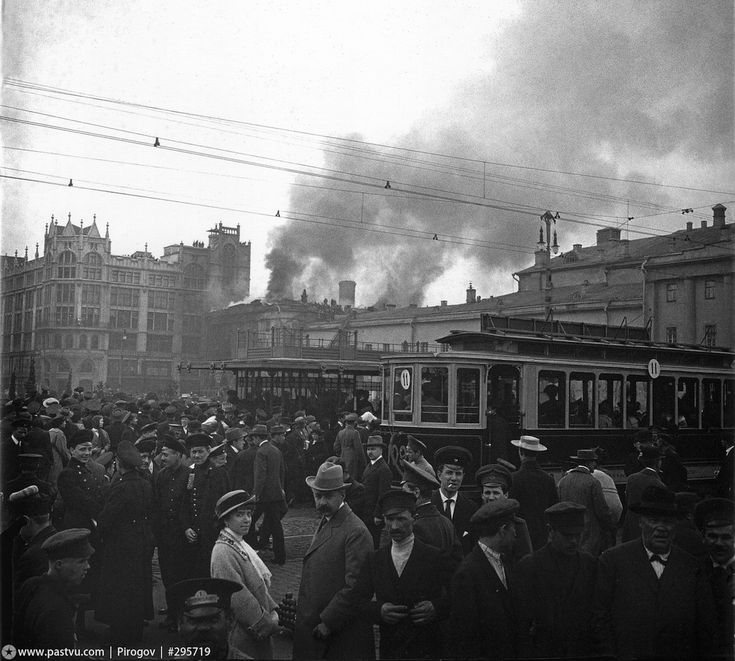 02 may 1914, Moscow, Fire at the Imperial Moscow Maly theatre
