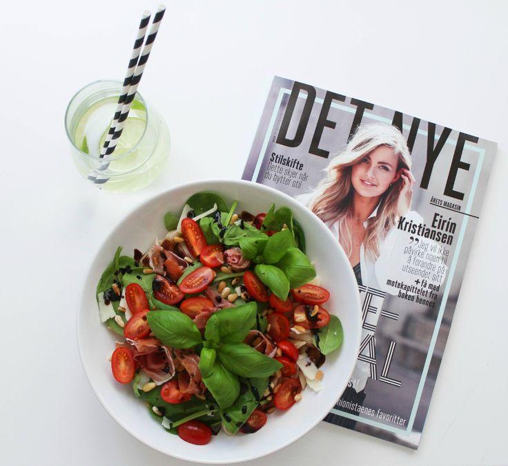 Etter å ha vært i Italia i sommer, ble jeg litt inspirert på kjøkkenet, og fant på en egen salat....