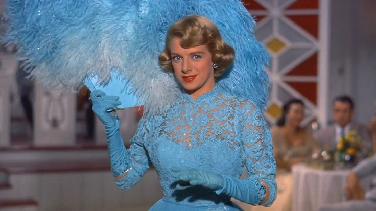 "Rosemary Clooney in White Christmas (1954), ""Sisters"", closeup of dress bodice, costumes designed by Edith Head"