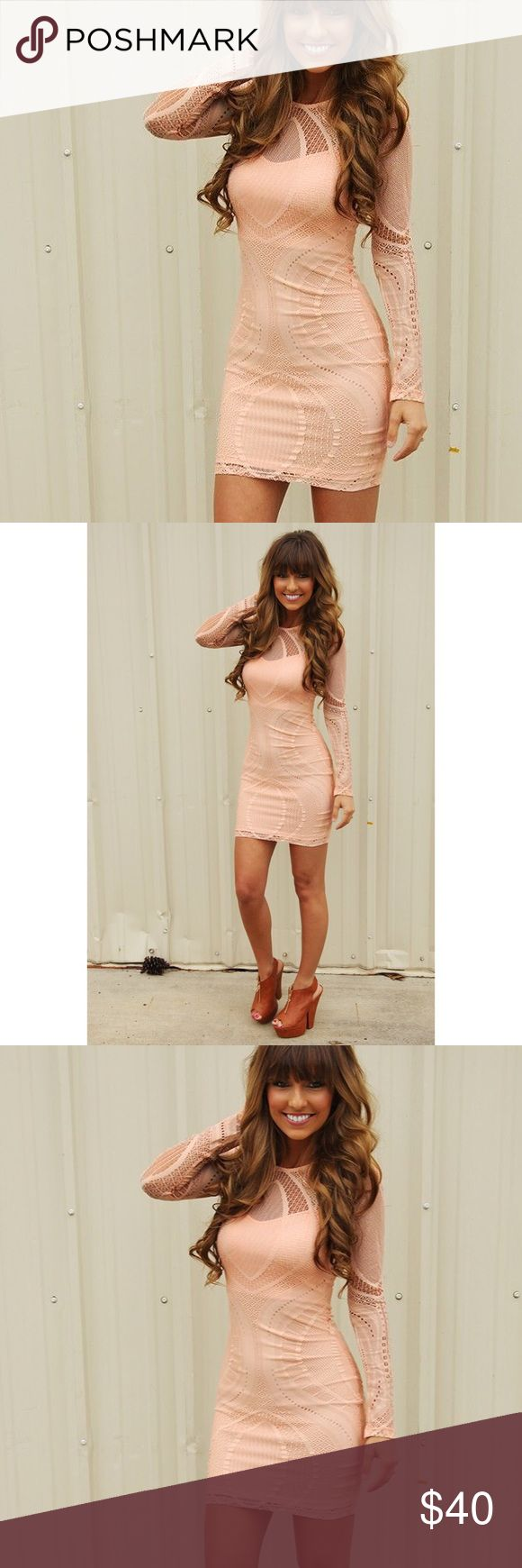 NWOT Blush Long Sleeve Dress NWOT!! Brand new, never been worn, perfect condition! Blush colored long sleeve dress originally purchased online from Shop Hope's. Runs true to size. Mystic Dresses Long Sleeve