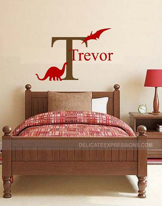 8f9d00da99e55614a1aa74104df52b44--monogram-wall-decals-vinyl-wall-stickers Dinosaurs with Personalized Name  Vinyl by DelicateExpressions Dinosaurs