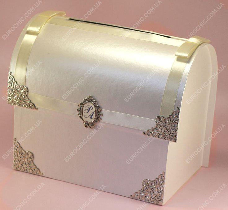 Свадебный сундук Ларец с вензелями айвори