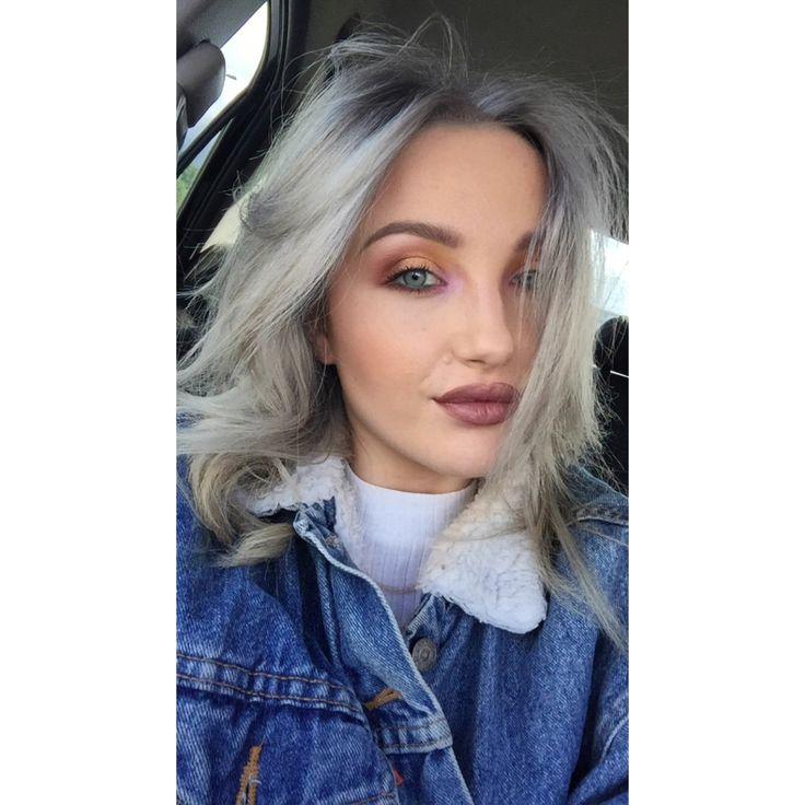 Hair: Ciara at petermark. Make up: Emma at mac dundrum. #greyhair #hair #makeup #maccosmetics #levis #curlyhair #modelling