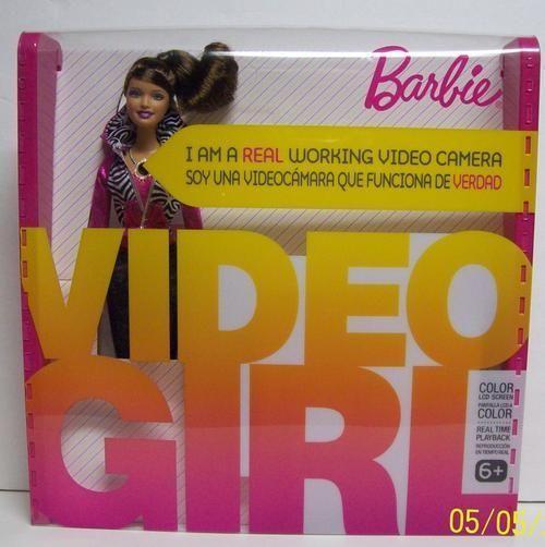 Barbie Girl Video Camera Barbie Doll Brunette NEW