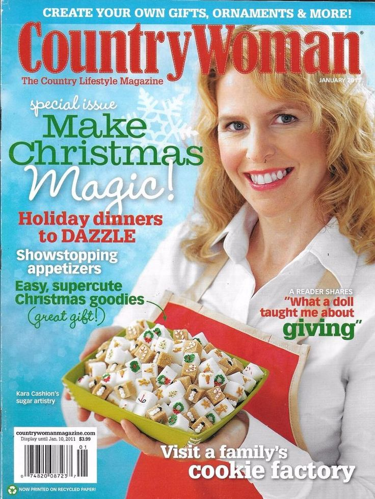Country Woman magazine Special Christmas issue Holiday dinners Cookie factory