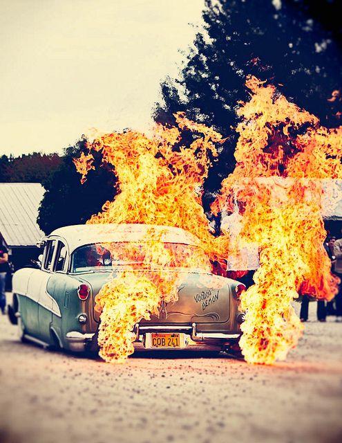 Classic Car Flames