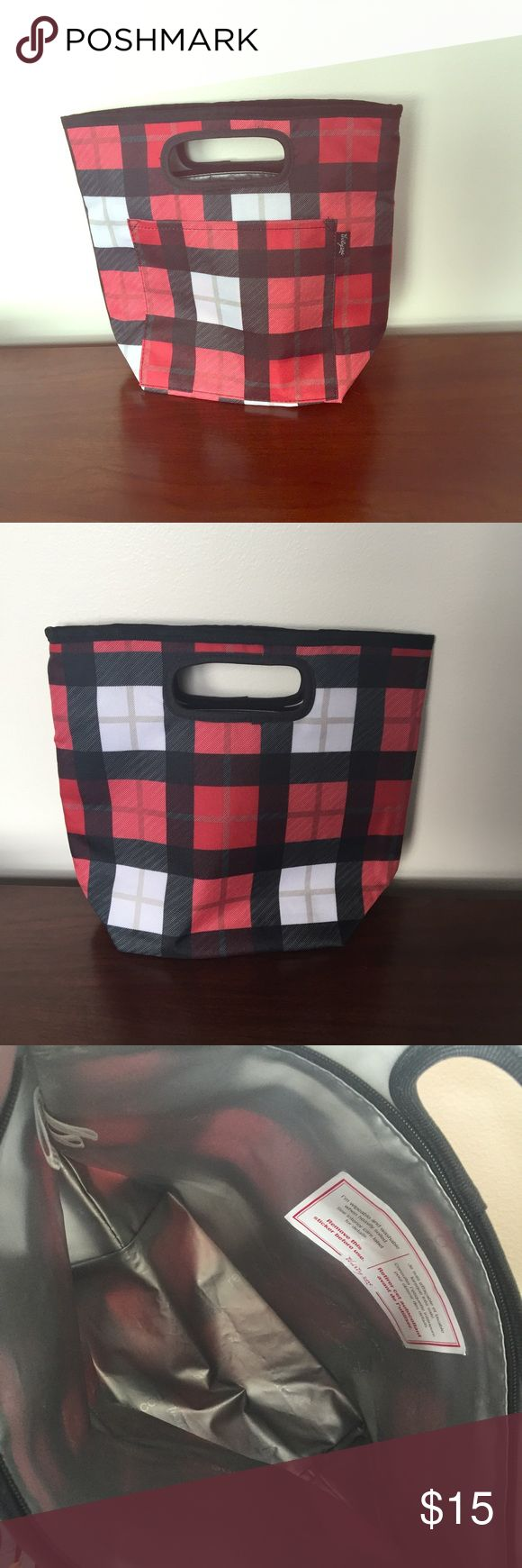 """Plaid Lunch Box NWOT: Thirty-One Go-To Thermal in Check Mate pattern. Wipeable & washable. One exterior pocket. Zipper closure. 11""""H x 12.5""""L at top opening 8""""L at base x 5""""D Thirty-One Other"""