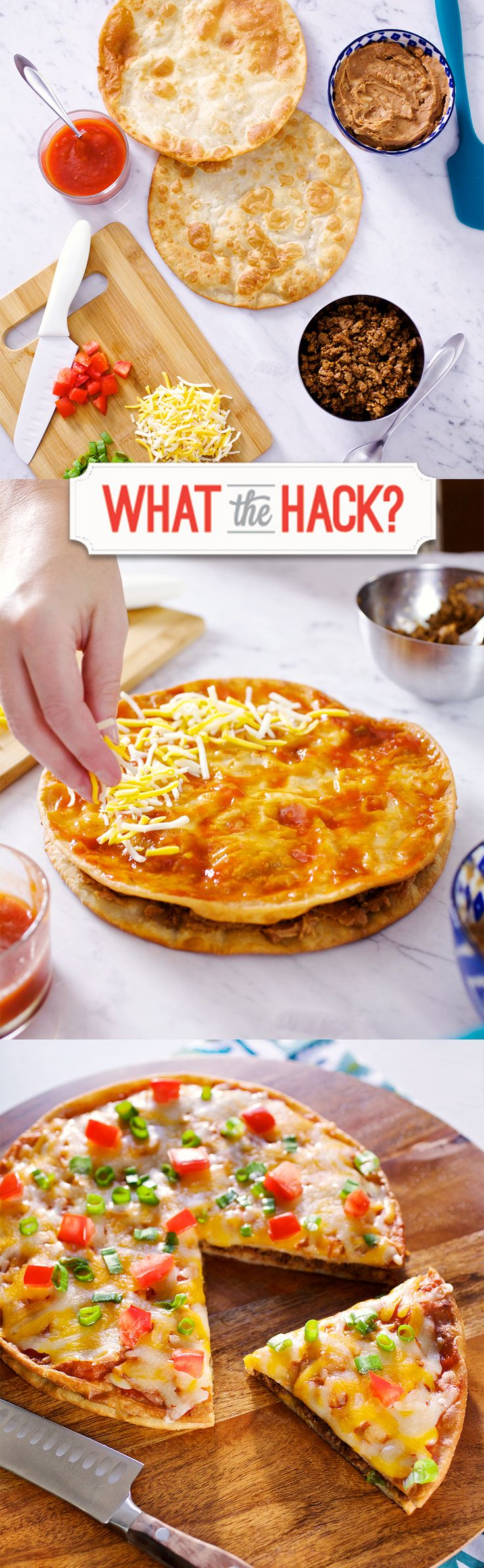 Make this #GlutenFree Mexican Pizza using Udi's tortillas!