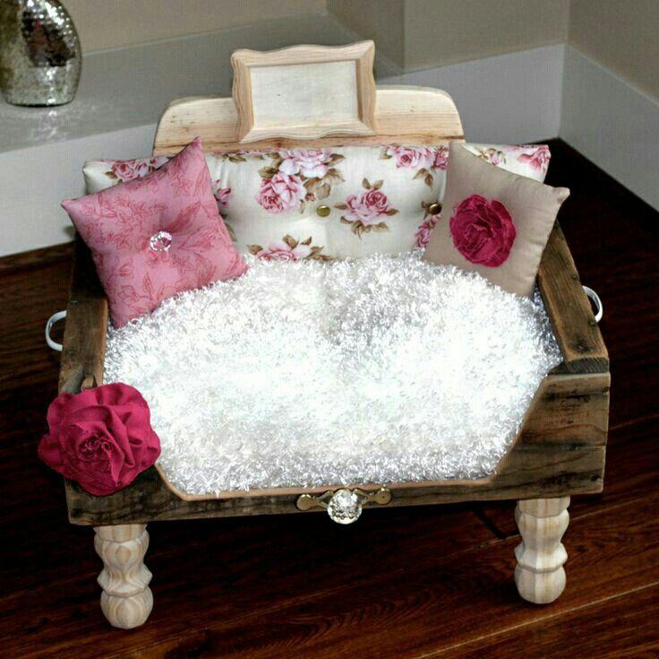Elegante cama de perra