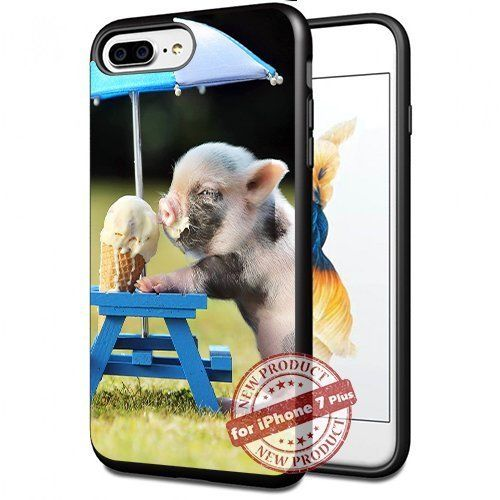 Funny Pig eating Ice Cream Apple iPhone 7+ Plus Case Cover Slim Rubber Protection by SURIYAN, http://www.amazon.com/dp/B0743JV2H5/ref=cm_sw_r_pi_dp_x_4buFzbZ2KXZCF