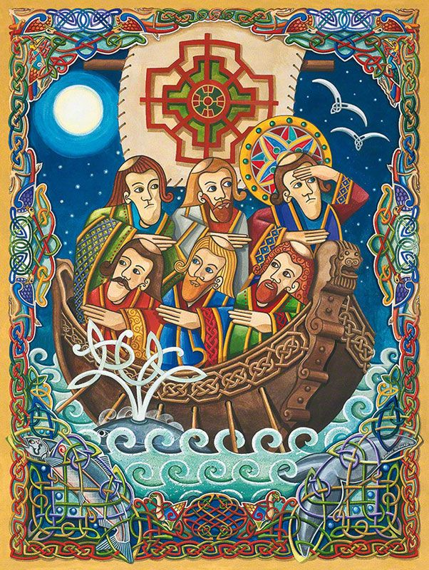 Today's prayer is St Brendan the Voyager's prayer. Reputedly he set sail in a small coracle of wood and oxhide from Ireland and ended up in Newfoundland. An amazing achievement back in the 5th cent...