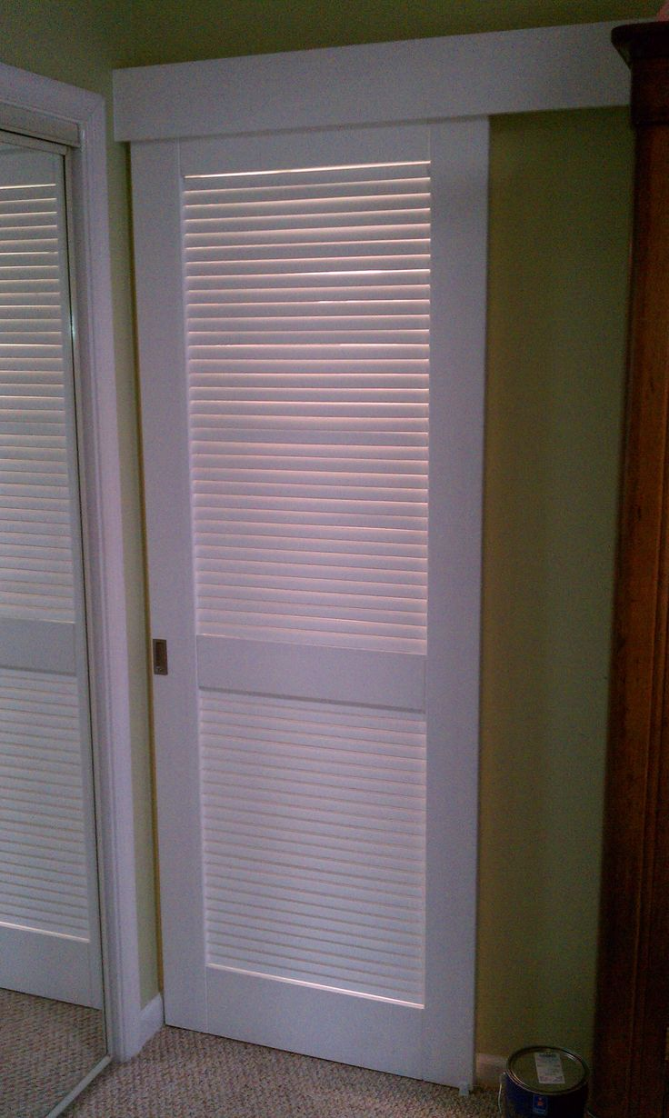 Louvered bathroom doors - Sliding Louvered Barn Door For Master Bathroom