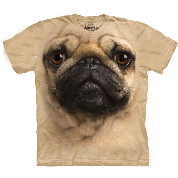 Pet Selfie Pug T-Shirt 3X Grey