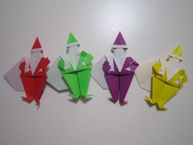 サンタクロース折り紙