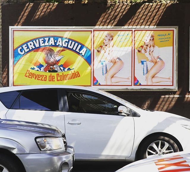 Another view of the wonderful creative on the recent Aguila Street poster campaign 🍻☀️