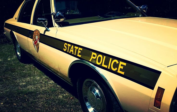 Vintage Maryland State Police Car | Former state police vehicle Chevy Impala, taken at the Camp ESPA ride in Maryland May 2015.