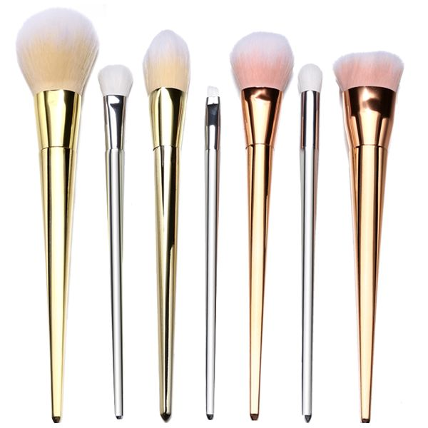 For a professional finish, use advanced brushes like this 7 Piece High Technique Makeup Brush Set with bristles designed to apply makeup seamlessly. These super soft brushes are compact, helping with precision and smooth application. Look natural and flawless without any visible lines or streaks of foundation, eyeshadow, blush or bronzer! Brushes come in an assortment of bronze, silver, and gold.