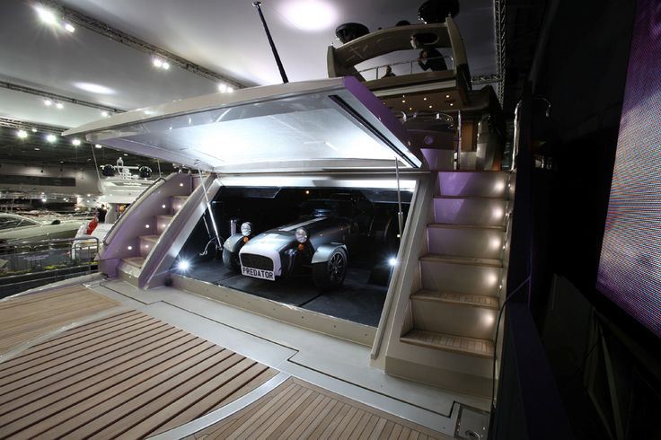 your very own personal garage on your yacht take your car