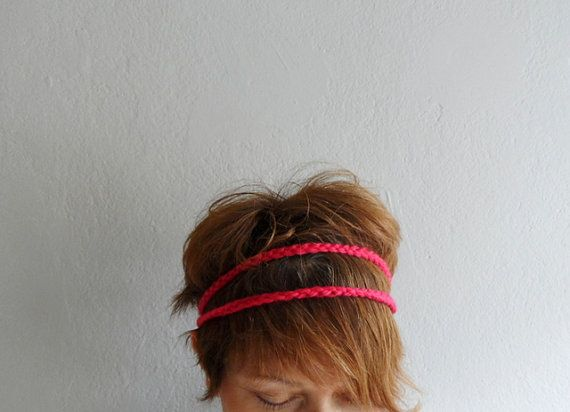 Boho Braided HeadbandCrochet Double Strand by fizzaccessory