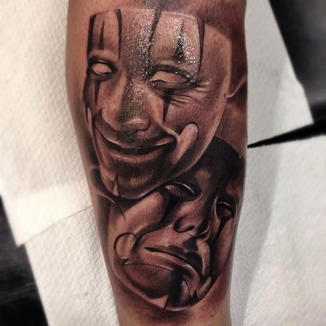 Comedy Mask Tattoo comedy mask tattoo masks and sleeve tattoos teatro ...