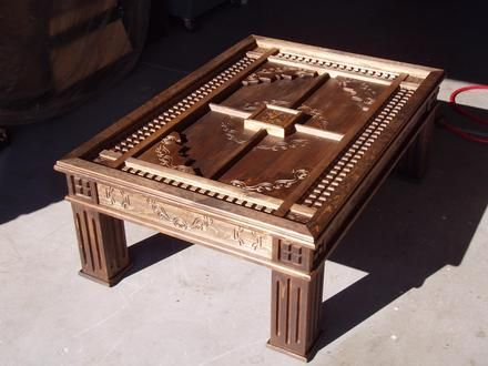 Woodworking Projects Cnc Carved Coffee Table Furniture