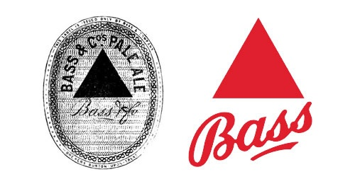 The Bass Brewery became one of the biggest beer companies in England by the 1890′s, with an annual production of more than 1,500,000 barrels.  http://www.famouslogos.net/bass-ale-logo-one-of-the-worlds-oldest-logos