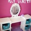 Little girls vanity via @Capturing Joy with Kristen Duke Photography So cute! #DIY #vanity