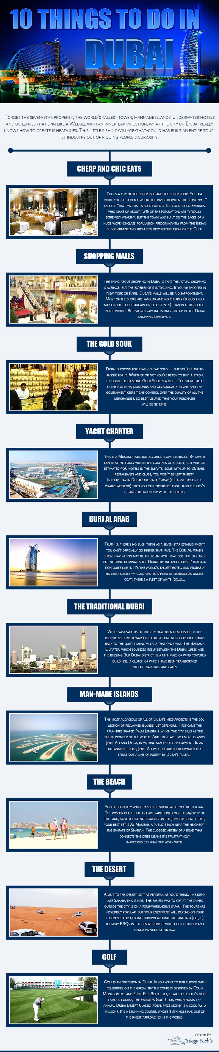 10 Things To Do In Dubai  #Infographic #Travel #Dubai