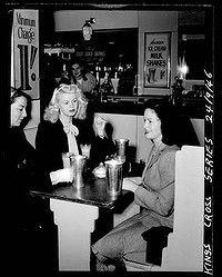 Kings Cross milk bar in 1946.