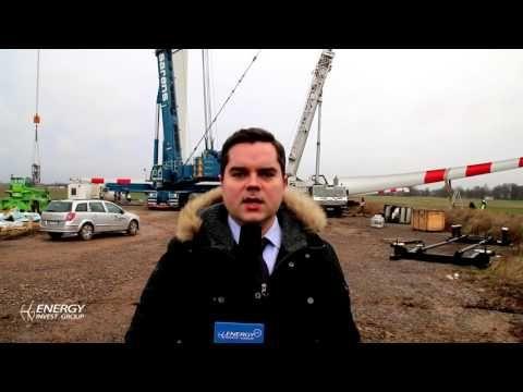 Budowa Turbin Wiatrowych EIG w Moszczenicy - YouTube