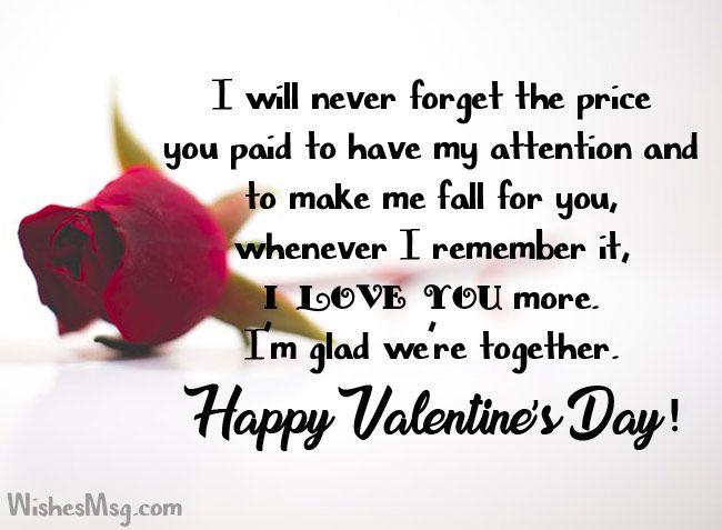 Message husband valentine sample for Best Valentine's