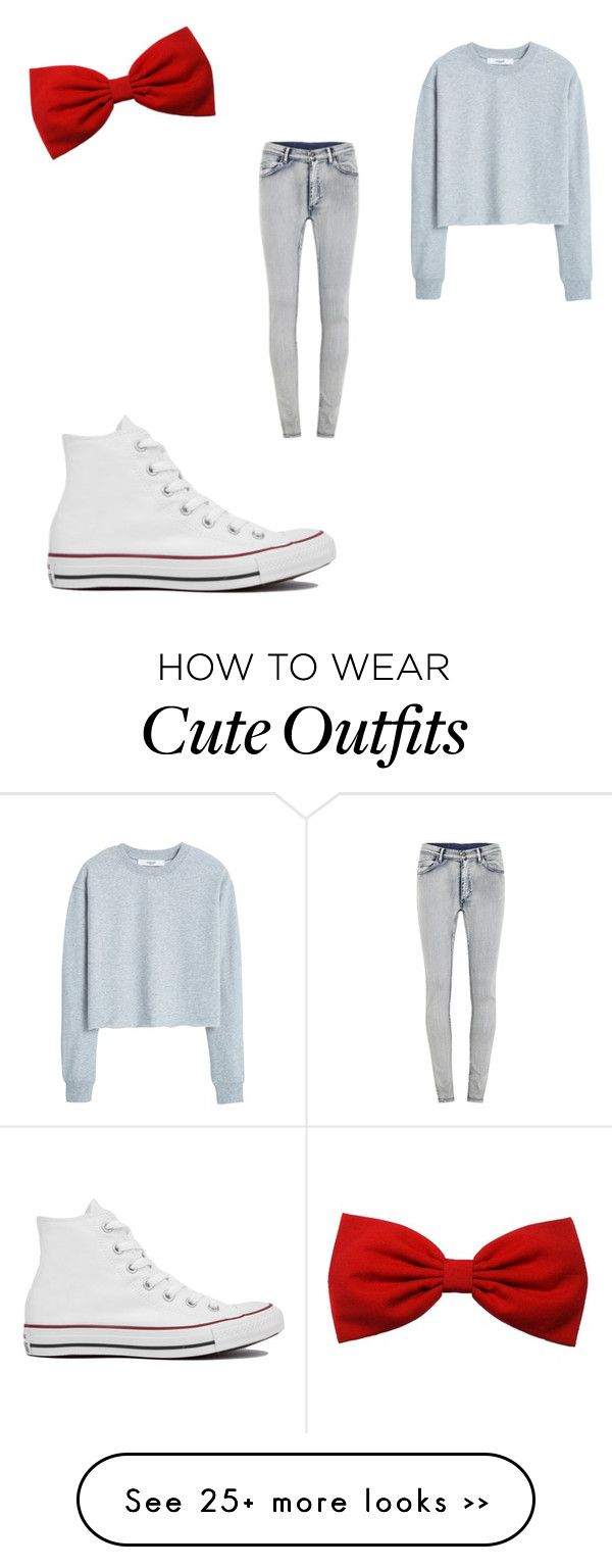 """""""Cute / little bit girly outfit!☺️"""" by mayvibes on Polyvore featuring Converse, MANGO and Cheap Monday"""