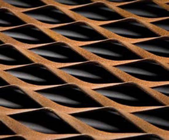 Corten Steel Mesh Corten Steel repinned by www.smg-treppen.de #smgtreppen