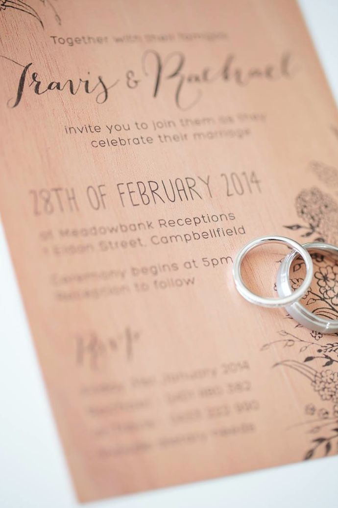 T-ONE images photography - Wedding invite. Designed by me. printed by Print on Wood.
